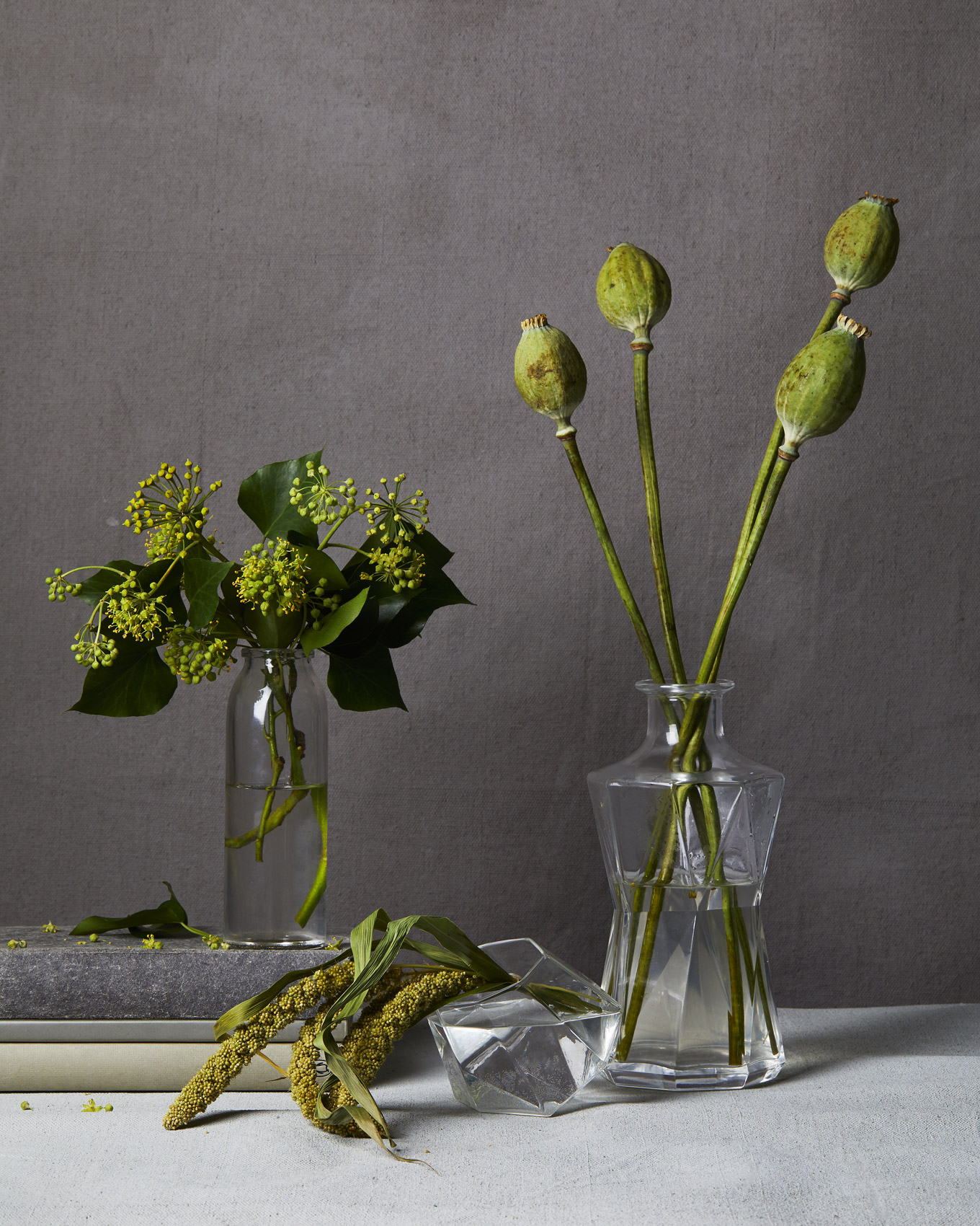 green-flowers_painted-gray-background_florals_ty-mecham_emily-harris